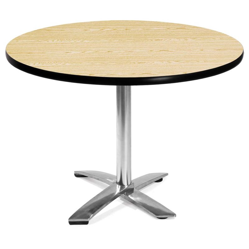 OFM 42 Round Folding Table in Oak
