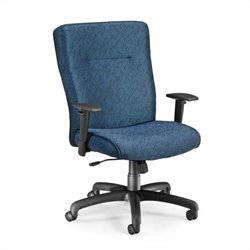 OFM Executive Conference Office Chair with Adjustable Arms in Blue