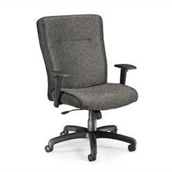 OFM Executive Conference Office Chair with Adjustable Arms in Charcoal