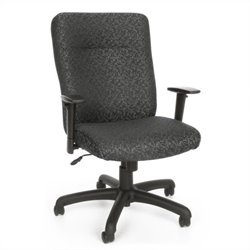 OFM Executive Conference Office Chair with Adjustable Arms in Gray