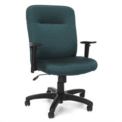 OFM Executive Conference Office Chair with Adjustable Arms in Teal