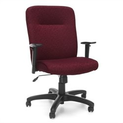 OFM Executive Conference Office Chair with Adjustable Arms in Burgundy