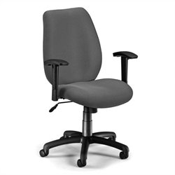 OFM Ergonomic Manager's Office Chair with Adjustable Arms in Graphite