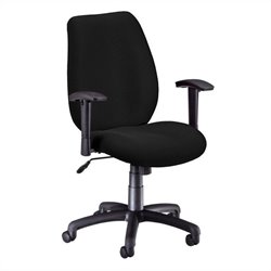 OFM Ergonomic Manager's Office Chair with Adjustable Arms in Ebony