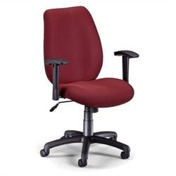 OFM Ergonomic Manager's Chair with Adjustable Arms in Burgundy