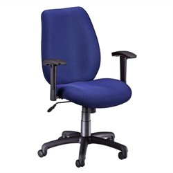 OFM Ergonomic Manager's Office Chair with Adjustable Arm in Ocean Blue