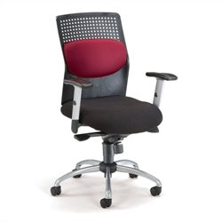 OFM AirFlo Series Executive Task Chair in Burgundy