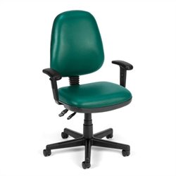 OFM Straton Series Computer Task Office Chair with Arms in Teal
