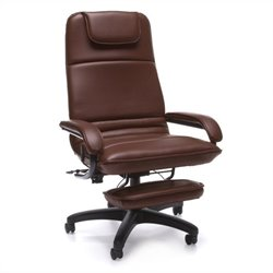 OFM Barrister Executive Recliner in Burgundy