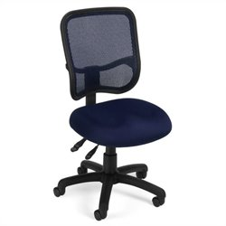 OFM Mesh Comfort Series Ergonomic Task Chair in Navy