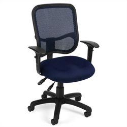 OFM Mesh Comfort Series Ergonomic Task Office Chair with Arms in Navy