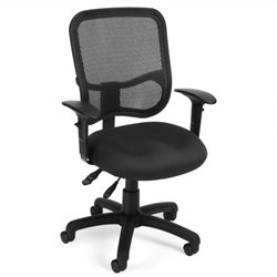 OFM Mesh Comfort Series Ergonomic Task Chair with Arms in Black