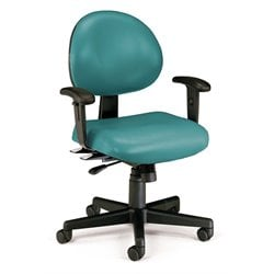 24 Hour Task Office Chair with Arms in Teal