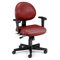 24 Hour Task Office Chair with Arms in Wine