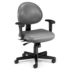 24 Hour Task Office Chair with Arms in Charcoal