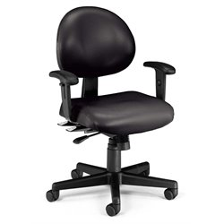 24 Hour Task Office Chair with Arms in Black