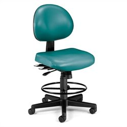 24 Hour Task Drafting Office Chair with Drafting Kit in Teal