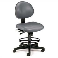 24 Hour Task Drafting Office Chair with Drafting Kit in Charcoal