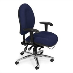 OFM 24-Hour Big and Tall Computer Task Chair in Blue