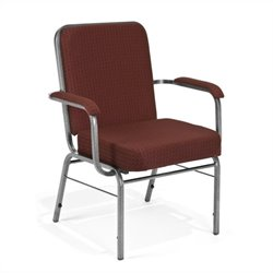 OFM Big and Tall Comfort Class Series Arm Office Chair in Burgundy