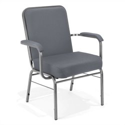 OFM Big and Tall Comfort Class Series Arm Office Chair in Gray