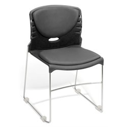 OFM Stack Stacking Chair with Anti-Bacterial Vinyl Seat and Back in Gray