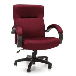 OFM Stature Series Executive Mid-Back Conference Chair in Burgundy