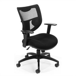 OFM Parker Ridge Executive Mesh Chair without Headrest in Black