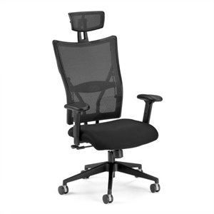 Executive High-Back Fabric Mesh Office Chair in Black