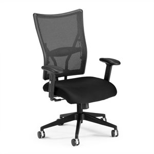 Executive Mid-Back Fabric Mesh Office Chair in Black