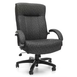OFM Big and Tall Executive High-Back Chair in Gray
