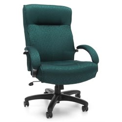OFM Big and Tall Executive High-Back Office Chair in Teal