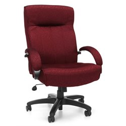 OFM Big and Tall Executive High-Back Office Chair in Burgundy