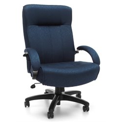 OFM Big and Tall Executive High-Back Office Chair in Navy