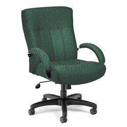 OFM Big and Tall Executive Mid-Back Chair in Green