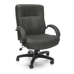 OFM Big and Tall Executive Mid-Back Chair in Gray