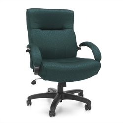 OFM Big and Tall Executive Mid-Back Chair in Teal