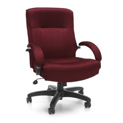 OFM Big and Tall Executive Mid-Back Chair in Burgundy