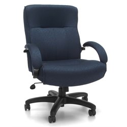 OFM Big and Tall Executive Mid-Back Chair in Navy