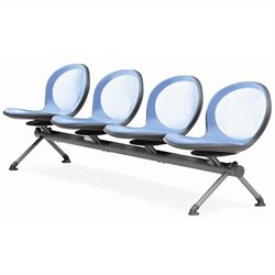 Beam Guest Chair With 4 Seats in Sky Blue