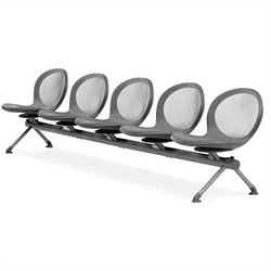 Beam Guest Chair With 5 Seats in Gray