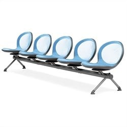 Beam Guest Chair With 5 Seats in Sky Blue