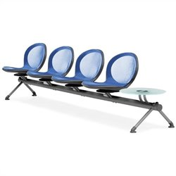 Beam Guest Chair With 4 Seats And Table in Marine