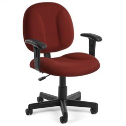 OFM SuperOffice Chair with Arms in Wine