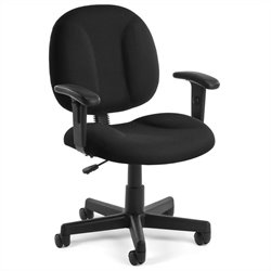 OFM SuperOffice Chair with Arms in Black