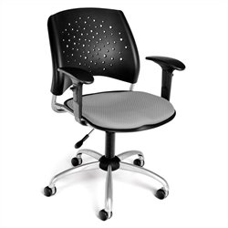 OFM Star Swivel Office Chair with Arms in Putty