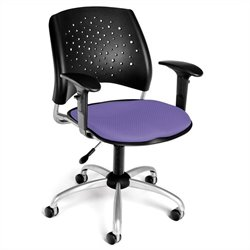 OFM Star Swivel Office Chair with Arms in Lavender