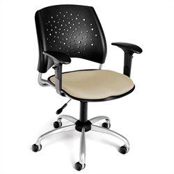 OFM Star Swivel Office Chair with Arms in Khaki