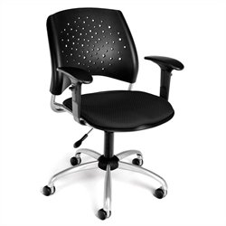 OFM Star Swivel Office Chair with Arms in Black