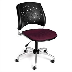 OFM Star Swivel Chair in Burgundy